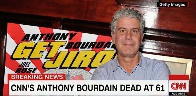Muere el chef y presentador de la CNN Anthony Bourdain a los 61