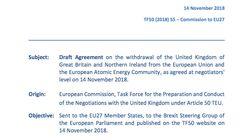 Consulta el texto íntegro del borrador sobre el Brexit