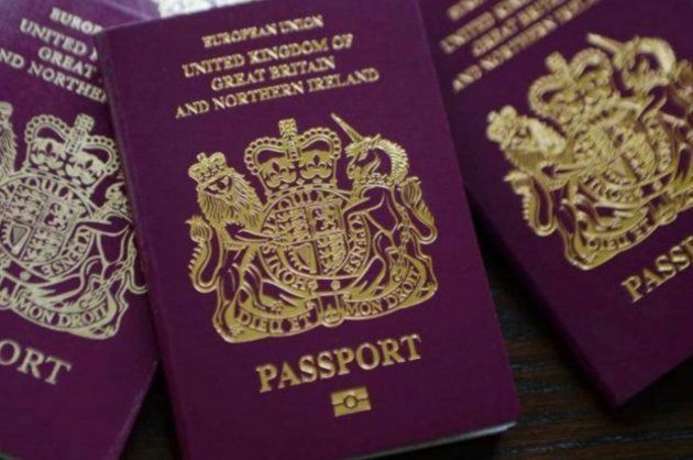 Imagen de archivo de un pasaporte