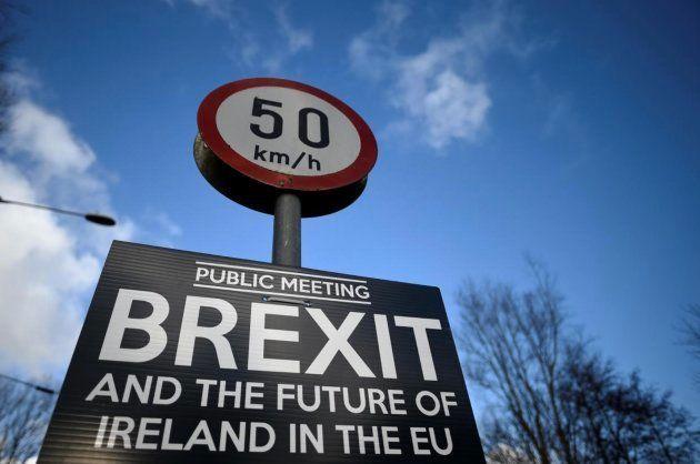 Imagen de archivo de la frontera en Irlanda del