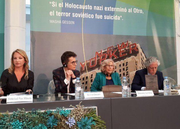 Gessen, en el acto de entrega del Premio Fundación Diario Madrid por su defensa de la libertad de