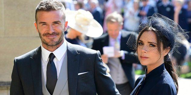 David y Victoria Beckham, en la boda del príncipe Harry y Meghan