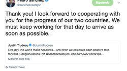 Todo el mundo ha hecho el mismo comentario a este tuit de Sánchez en