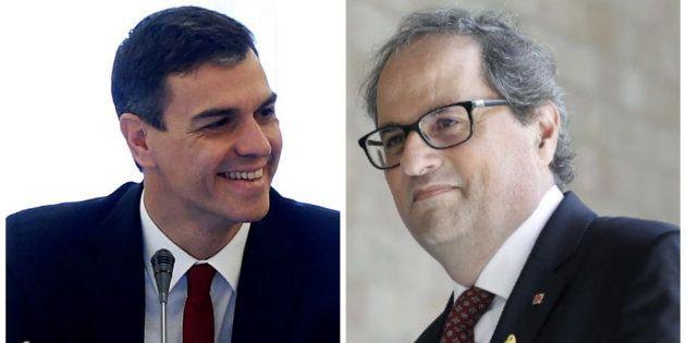 Pedro Sánchez y Quim Torra hablan por teléfono y se emplazan a verse