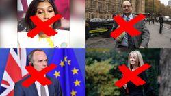 Todas las dimisiones que ha sufrido Theresa May por el
