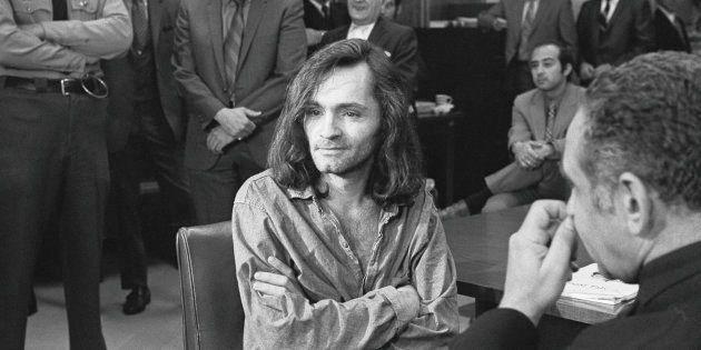Charles Manson, líder de 'La Familia Manson' de California en los años