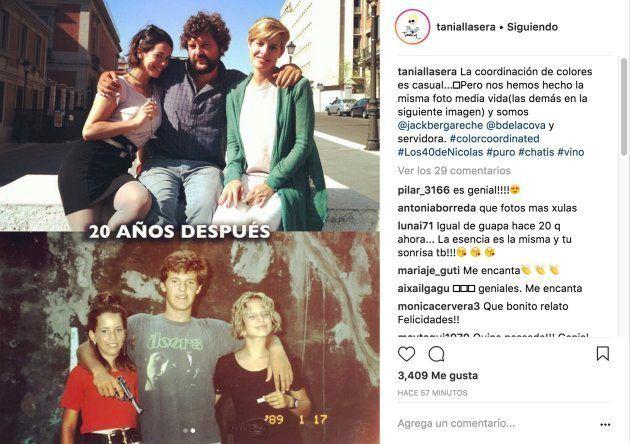 Tania Llasera se ha hecho la misma foto con sus amigos a lo largo de 20