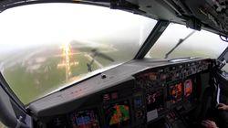 El sobrecogedor aterrizaje de un avión en Palma de Mallorca en plena