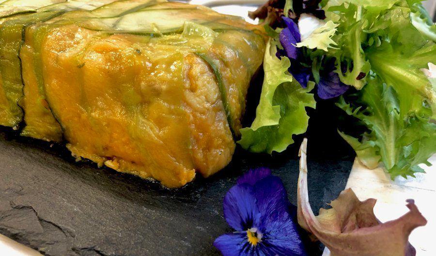 Pastel de merluza y calabaza, por Juan