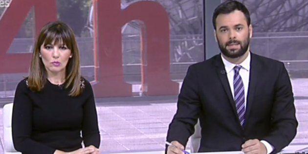 Los presentadores del 24 horas en uno de los Viernes