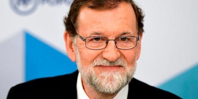 El expresidente del Gobierno, Mariano Rajoy, en la reunión del