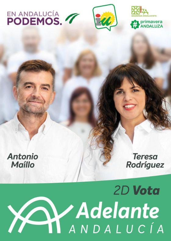 Cartel electoral de Adelante