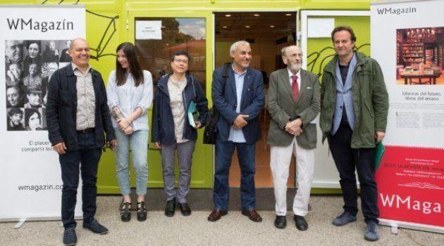 De izquierda a derecha: Winston Manrique, Luna Miguel, Marbel Sandoval Ordóñez, Muhsin al-Ramli, Álvaro...