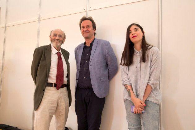 De izquierda a dercha: Álvaro Pombo, Marcos Giralt Torrente y Luna