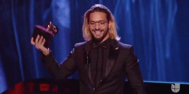 Maluma recoge el premio al Mejor álbum vocal pop