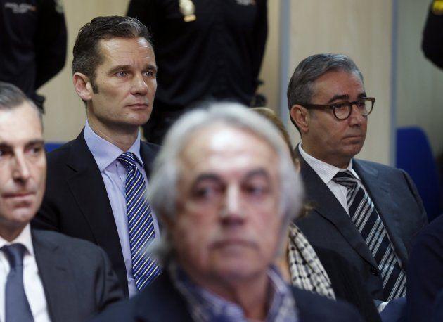 Urdangarin y Torres, durante el juicio en la Audiencia de
