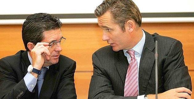 Jaume Matas e Iñaki Urdangarin en una imagen de