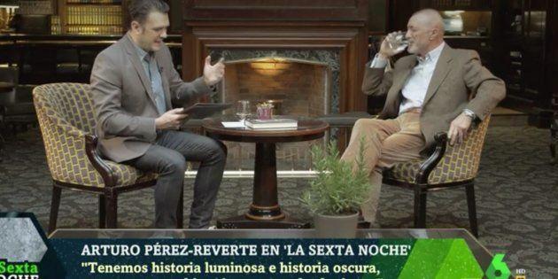 Arturo Pérez-Reverte e Iñaki López en 'LaSexta