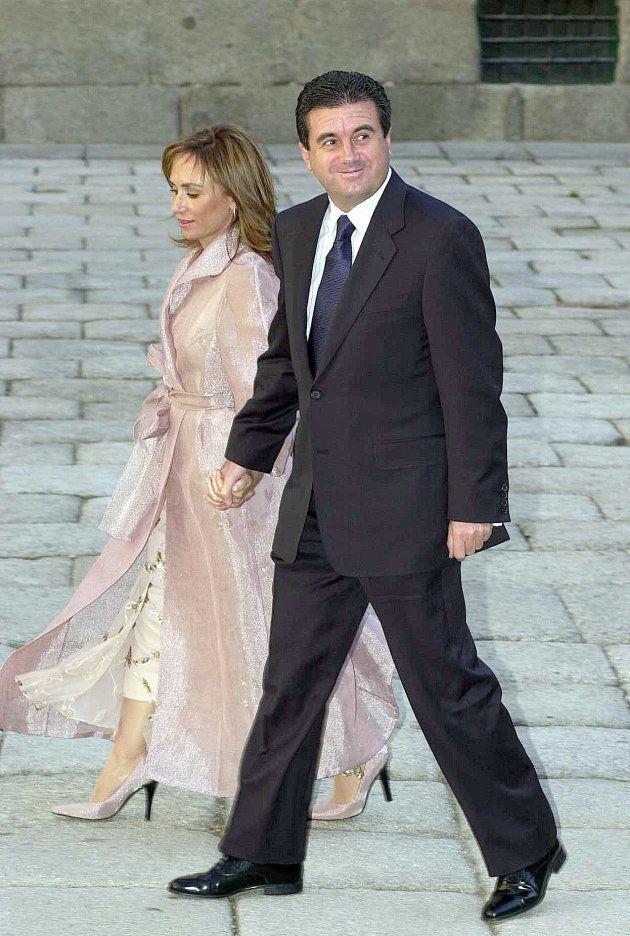 Jaume Matas y su esposa, en la boda de la hija de José María