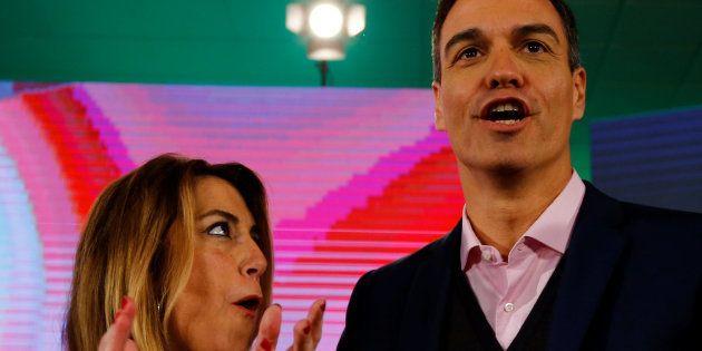 Susana Díaz y Pedro Sánchez, este domingo en