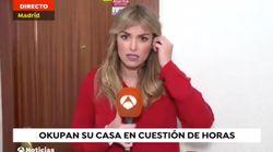 El mal rato de una reportera de Antena 3 Noticias 1 en pleno