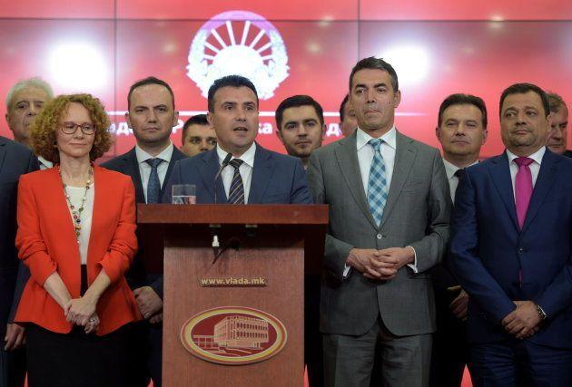 El primer ministro de Macedonia Zoran Zaev