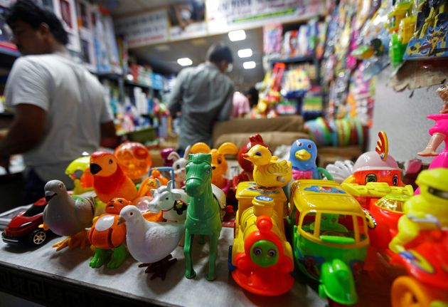 A Chinese toy shop at a market in