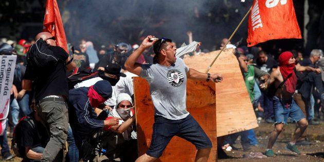 Manifestantes en Buenos