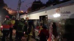 Las primeras imágenes del accidente del tren de cercanías en