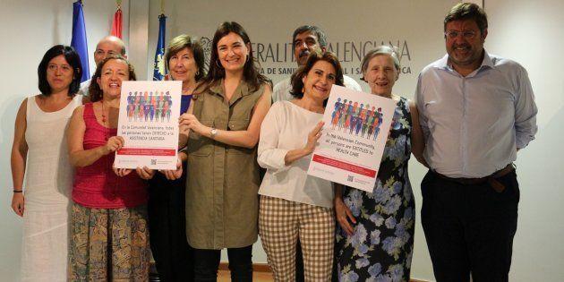 Presentación de la campaña 'En la Comunitat Valenciana todas las personas tienen derecho a la asistencia...