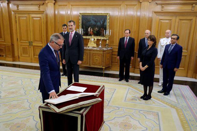 Màxim Huerta entrega la cartera de Cultura y Deporte al ministro José