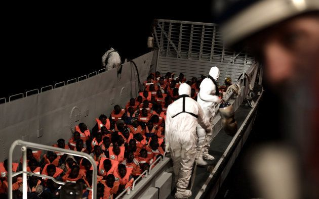 Migrantes rescatados por el