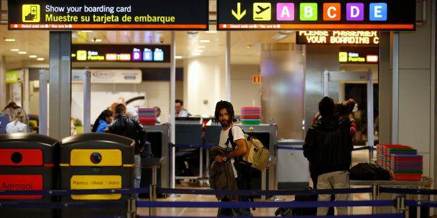Control de seguridad del aeropuerto Adolfo Suárez Madrid