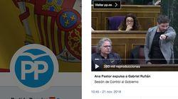 El tuit del PP intentando aprovechar la expulsión de Rufián en el Congreso que se le vuelve (muy) en