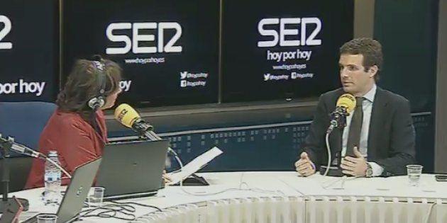 Pablo Casado, este jueves, entrevistado por Pepa