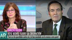 El reto de Bono en pleno directo al diputado del supuesto escupitajo a Borrell que deja estupefacta a Ana