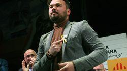 Rufián hace campaña con una carta de Junqueras a sus hijos desde la cárcel e incendia