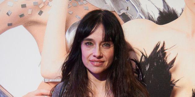 La actriz Beatriz Rico durante la presentación de la obra de teatro