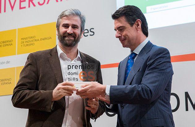 Frederic Llordachs recoge, en 2014, el Premio a la mejor web en la categoría de Web Emprendedora a