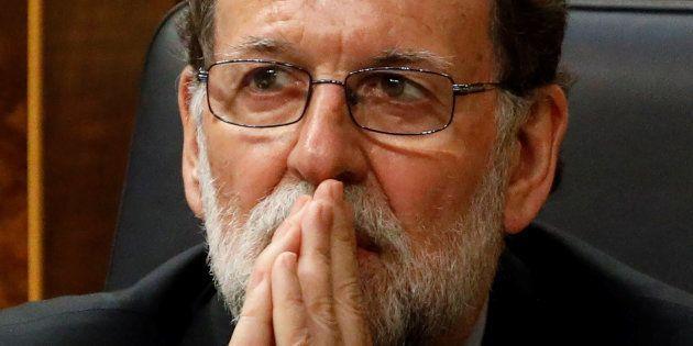 Mariano Rajoy, durante un pleno del Congreso, el pasado