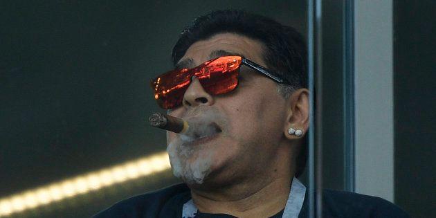 El vídeo de Maradona viendo a Argentina del que todo el mundo