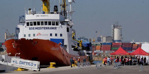 La llegada del 'Aquarius' a Valencia, en