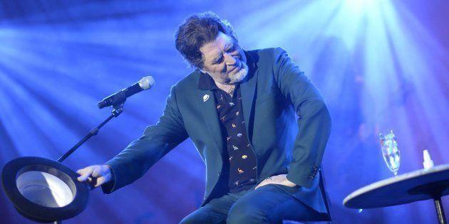 El cantante y compositor Joaquín Sabina durante el concierto de este sábado en