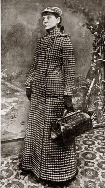 Nellie Bly en una imagen para promocionar su viaje alrededor del