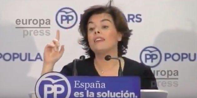 A Sáenz de Santamaría se le vuelve este vídeo en contra tras los resultados del