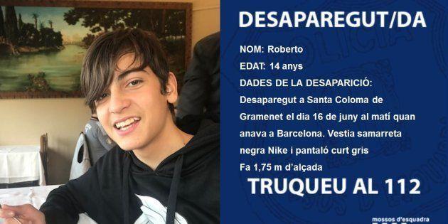 Desaparecido un menor de 14 años de Santa Coloma de Gramenet camino a