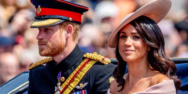 El príncipe Enrique y Meghan Markle, en Trooping The Colour