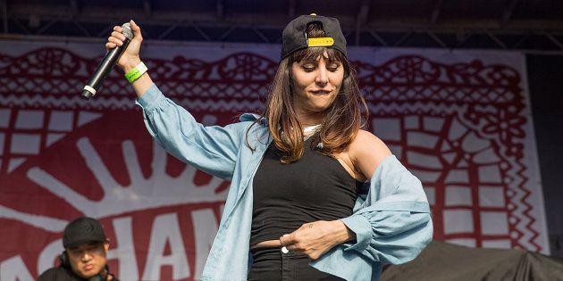 Mala Rodríguez en un concierto en Texas, Estados Unidos, en mayo de