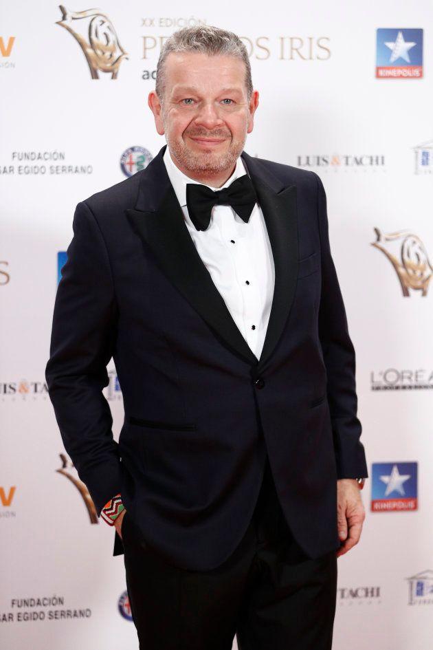Alberto Chicote en los premios Iris de la Academia de Televisión