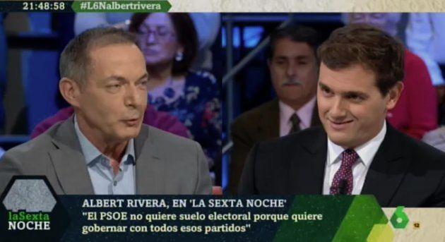 Albert Rivera e Hilario Pino en 'LaSexta